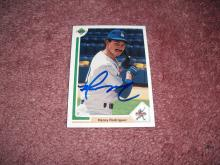 Henery Rodriquez 1991 Upper Deck Autograph Rookie Card