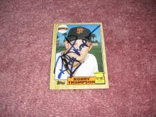Robby Thompson Autograph Rookie Card