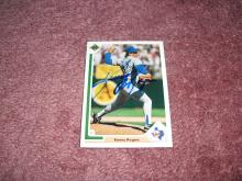 Kenny Rogers Autograph 1991 Upper Deck Card