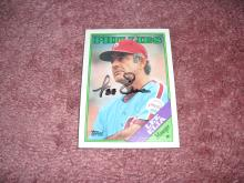 Lee Elia Autograph Card (Phillies Manager)