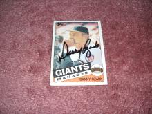 Danny Ozark Autograph Card (Giants Manager)
