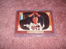 1955 Bowman Dave Jolly Ex-Vg Condition Milwaukee Braves
