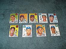 1954 Topps (9) Card Lot