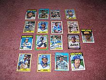 Milwaukee Brewers Autograph 17 Card Team Lot