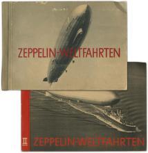 1933 ZEPPELIN-WELTFAHRTEN I & II CIGARETTE CARD BOOKS