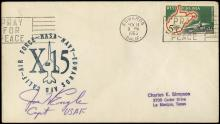 1960s X-15 PILOTS SIGNED COVERS (x29)