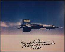 1980s X-15 PILOT FORREST PETERSEN SIGNED PHOTO COLLECTION