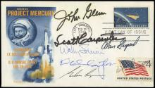 1962 MERCURY 7 SIGNED COVER