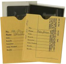 1962 MA-8 NEGATIVES W/ WALLY SCHIRRA SIGNED PAPER SLIPS (x8)