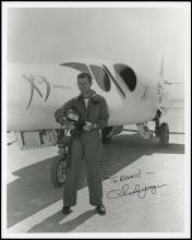 1990s CHUCK YEAGER SIGNED PHOTOS (x19)