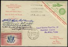 1936 KEITH E. RUMBEL ROCKET MAIL COVERS (x4)