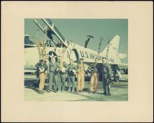 1960s GREAT MERCURY 7 SIGNED OVERSIZE PHOTO