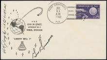 1961 GUS GRISSOM SIGNED 'LIBERTY BELL 7' COVER