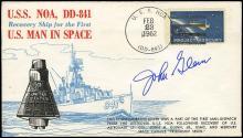 MA-6 1962 JOHN GLENN SIGNED MISSION DATE COVERS (x9)