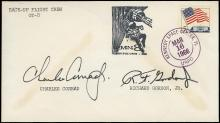 1965-66 GEMINI MISSION BACK-UP CREW SIGNED LAUNCH COVERS (x4)