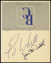 GT-4 1965 CREW SIGNED BUSINESS CARD