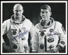 GT-6A 1965 CREW SIGNED NASA B&W PHOTOS (x5)