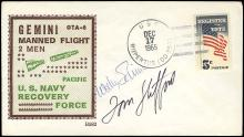 GT-6A 1965 CREW SIGNED RECOVERY SHIP COVER