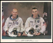 GT-9A 1966 CREW SIGNED NASA IMAGES (x3)
