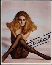 1960s BARDOT & LOREN, FOUR SIGNED PHOTOS