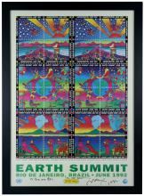 1992 PETER MAX SIGNED POSTER FOR EARTH SUMMIT