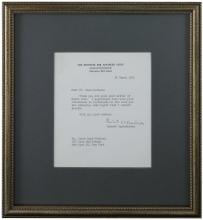 1961 J. ROBERT OPPENHEIMER SIGNED LETTER