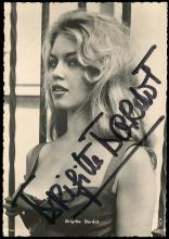 1950s-90s BRIGITE BARDOT PICTURE POSTCARDS (x30), 4 SIGNED
