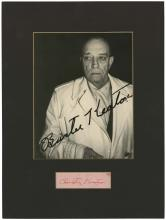 1960s BUSTER KEATON SIGNED CUT