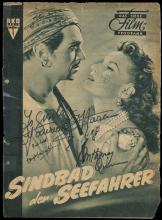 1940s-50s ANTHONY QUINN SIGNED GERMAN FILM PUBLICATIONS (x3), WITH O'HARA, FAIRBANKS JR. & LOREN