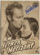 1950s SIGNED GERMAN FILM PUBLICATIONS (x10), CHARLTON HESTON, JOANNE WOODWARD, MORE