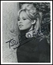 1960s-70s SIGNED PHOTOS, BARDOT, LOREN, ANDRESS, LEIGH, OTHERS (x12)