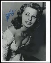 1960s SIGNED PHOTOS, BRIGITTE BARDOT (x3) & SOPHIA LOREN