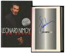 1995 'I AM SPOCK' SIGNED BY LEONARD NIMOY (x18)