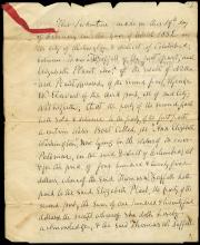 1852 INDENTURE FOR SALE OF BOAT & SLAVE