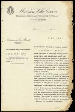1936 MILITARY DISCIPLINARY DOCUMENT SIGNED BY MUSSOLINI