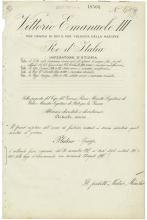 1938 MUSSOLINI & KING EMANUELE III SIGNED DOCUMENT
