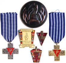 1940s-50s CONCENTRATION CAMP MEDALS & BADGES GROUP (x14)