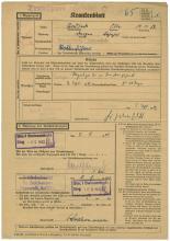 1942 LITZMANNSTADT 'SECRET' DOCUMENT REGARDING TRANSPORT