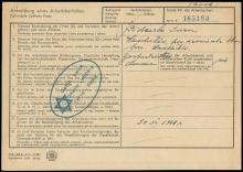 1942 LWOW GHETTO REGISTRATION FORM