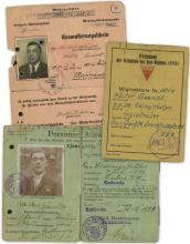 1940s-50s DOCUMENTS RELATING TO GESTAPO VICTIM WALTER QUANDT