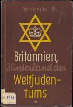 1940 GERMAN ANTI-SEMITIC BOOK 'BRITANNIEN, HINTERALND DES WELTJUDENTUMS'