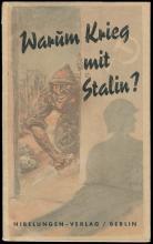 1941 'WARUM KRIEG MIT STALIN?,' ANTI-SEMITIC, ANTI-COMMUNIST BOOK