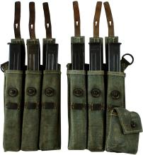 1940s MP43 POUCHES W/ 6 GUN MAGAZINES