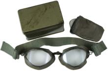 1940s GERMAN LUFTWAFFE PILOT FLIGHT GOGGLES W/ CASE & EXTRA LENSES