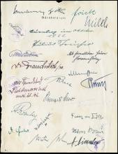 1933 PAGE SIGNED BY 22 NAZI OFFICIALS INCLUDING ADOLF HITLER