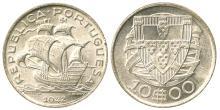 PORTUGAL 1942 SILVER 10 ESCUDOS RAW