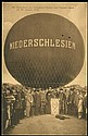BALLOONS 1914 GERMANY 'NIEDERSCHLESIEN' BALLOON FLIGHT CARD