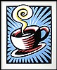 1998 BURTON MORRIS AUTOGRAPHED LIMITED EDITION SERIGRAPH, 'COFFEE CUP', Burton Morris, Click for value