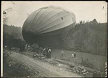 1900s-1920s AIRPLANE, AIRSHIP & ZEPPELIN MEMORABILIA PHOTO ALBUM