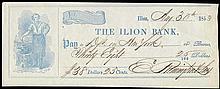 1853 BANK CHECKS SIGNED BY ELIPHALET OR SAMUEL REMINGTON